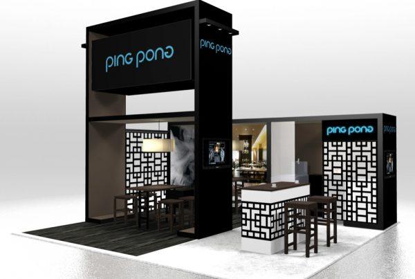 PingPong 20x20 Trade Show Island Display