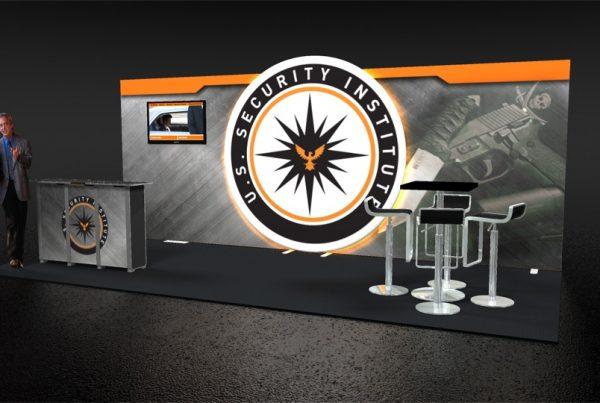 US Security Institute 10x20 Trade Show Exhibit