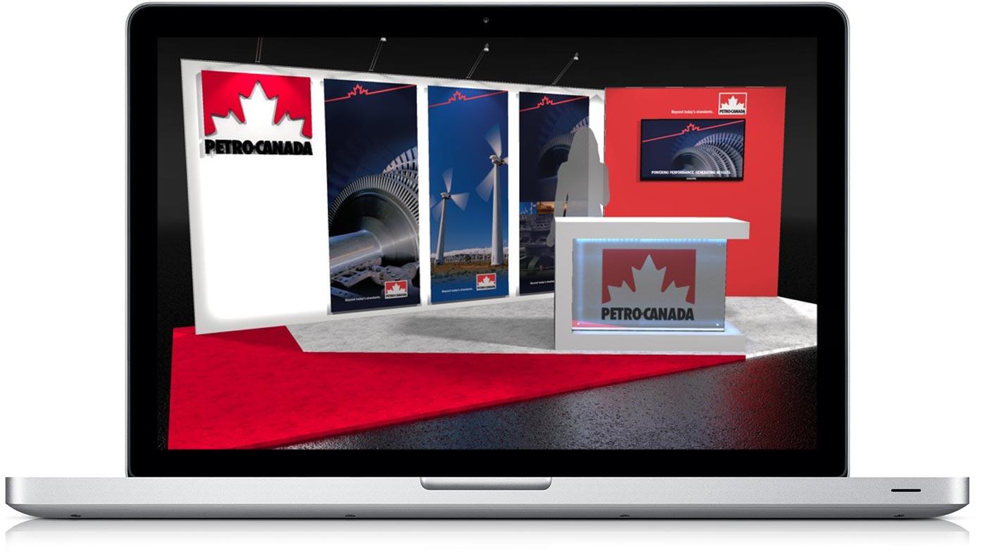 Laptop with Petro Canada Exhibit