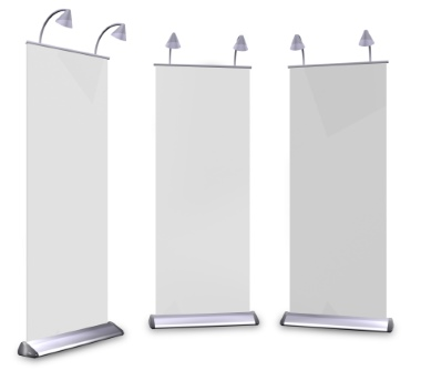 Xtreme Xhibit's branded banner stands.
