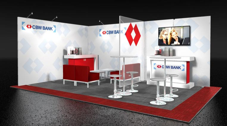 XtremeXhibits Example - CBW Bank Trade Show Display