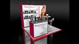 Trade Show Design: Majorica 10x10 Display