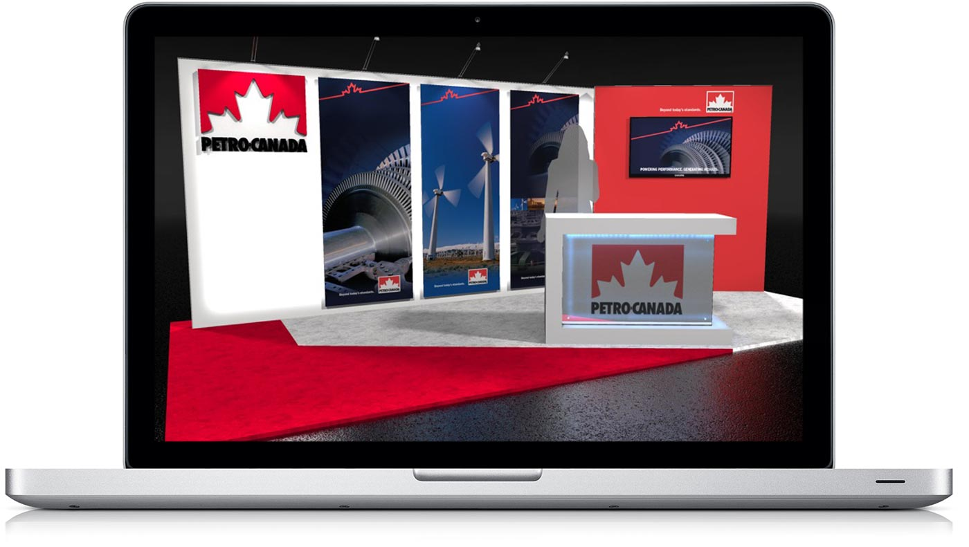 Laptop with Petro Canada Exhibit