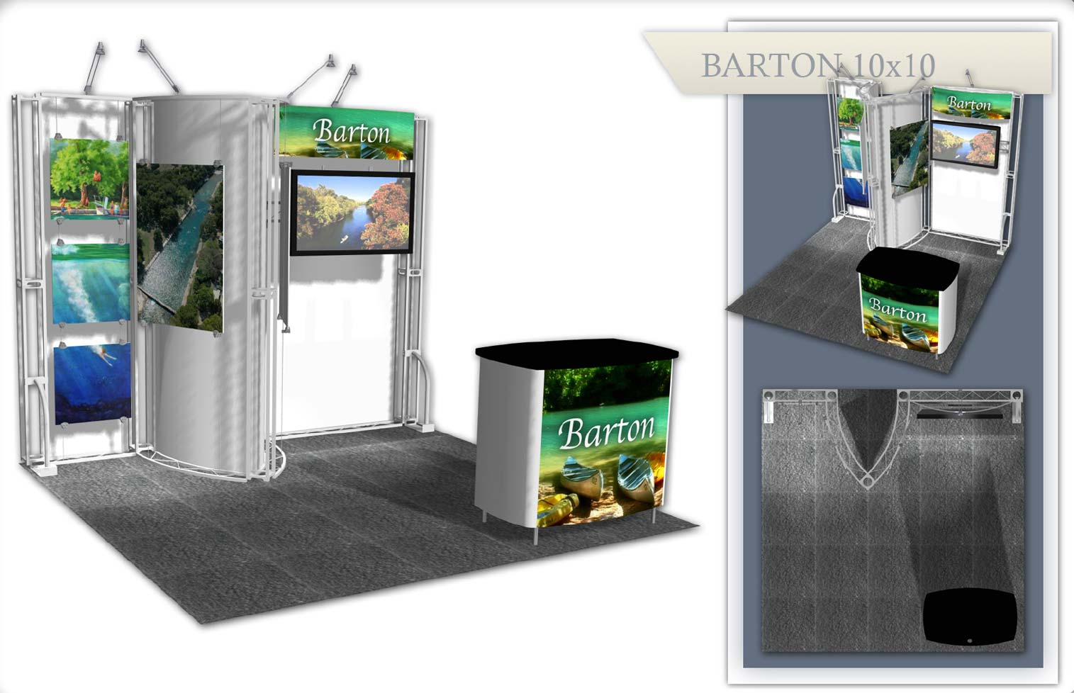 Used Trade Show Booth : Austin used trade show booth barton xtreme xhibits