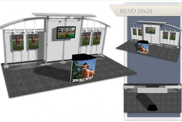 Used Trade Show Exhibit: Bevo 10x20