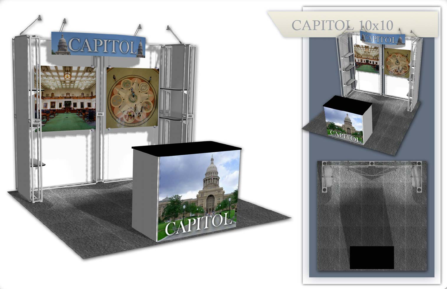Used Trade Show Booth : Capitol used trade show booth xtreme xhibits